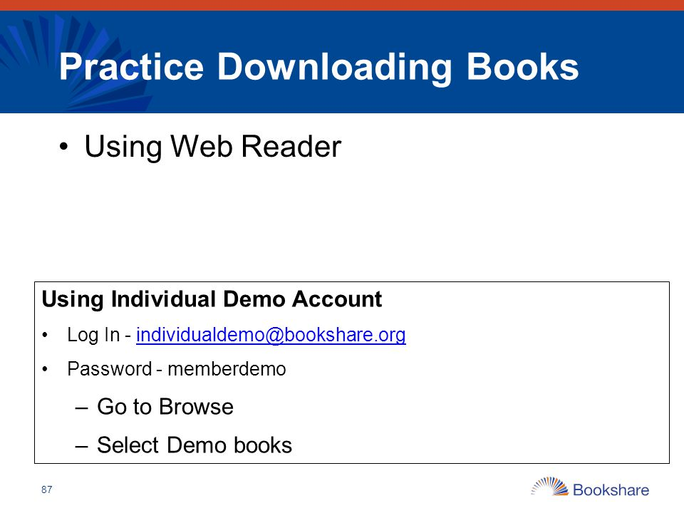 Practice Downloading Books