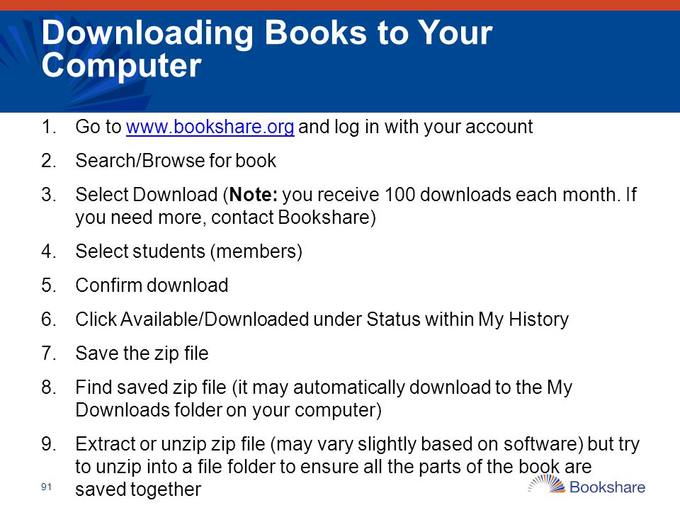 Downloading Books to Your Computer