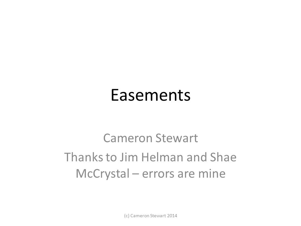 Thanks to Jim Helman and Shae McCrystal – errors are mine