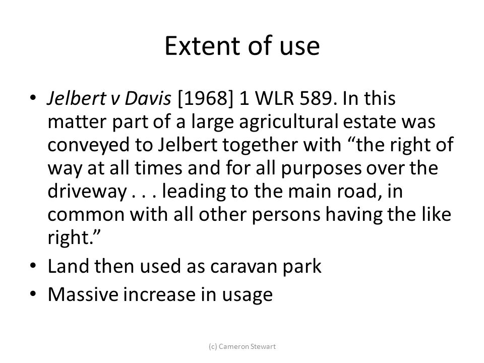 Extent of use