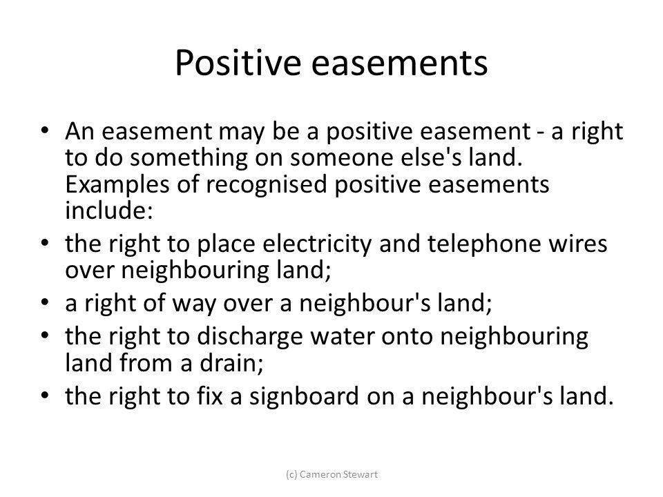 Positive easements
