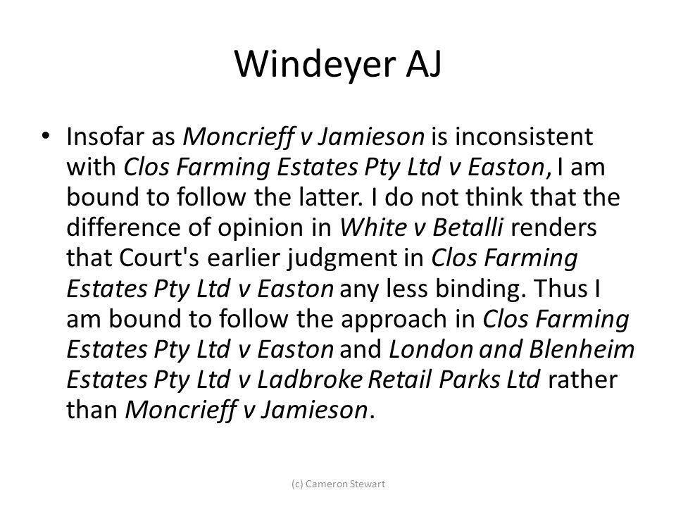 Windeyer AJ