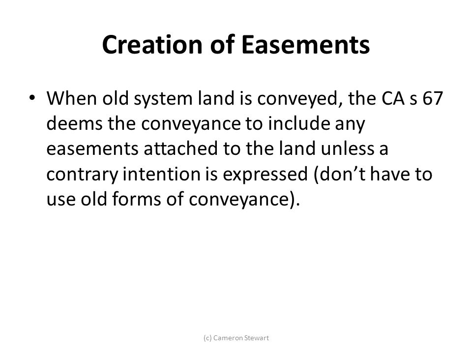 Creation of Easements
