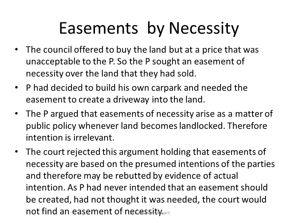 Easements by Necessity