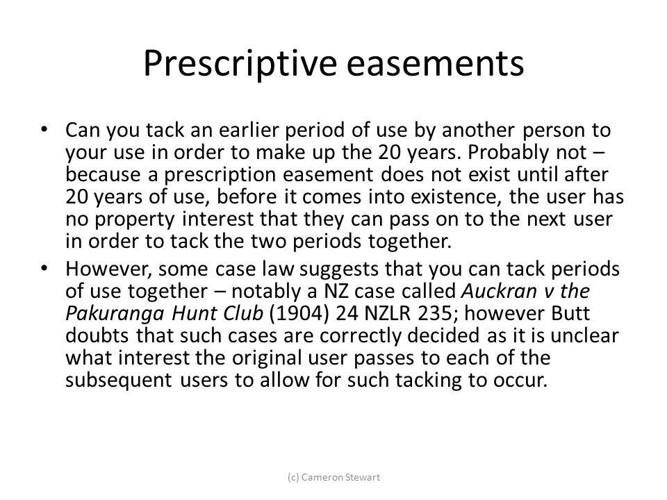 Prescriptive easements