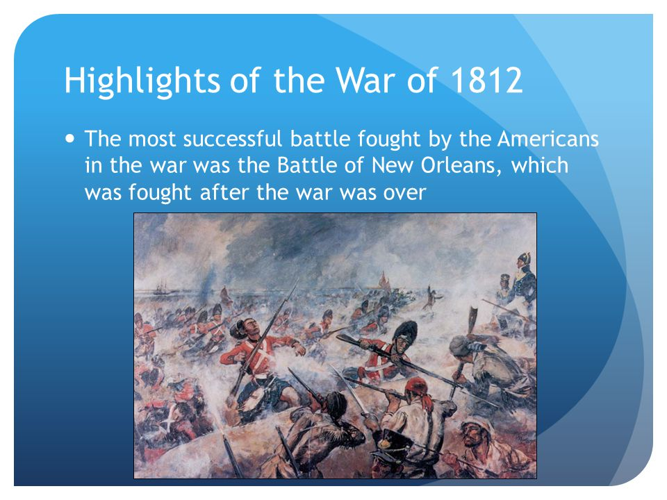 Highlights of the War of 1812