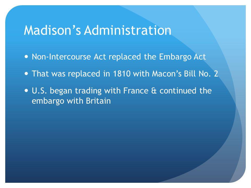 Madison's Administration