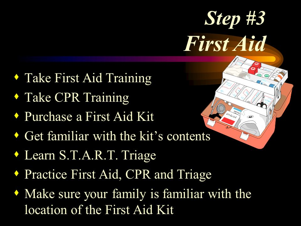 Step #3 First Aid Take First Aid Training Take CPR Training