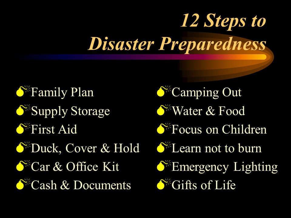 the level of disaster preparedness of