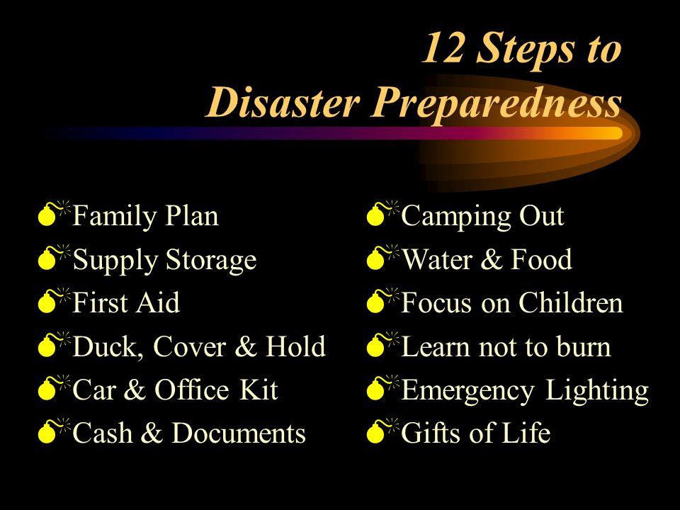 12 Steps to Disaster Preparedness