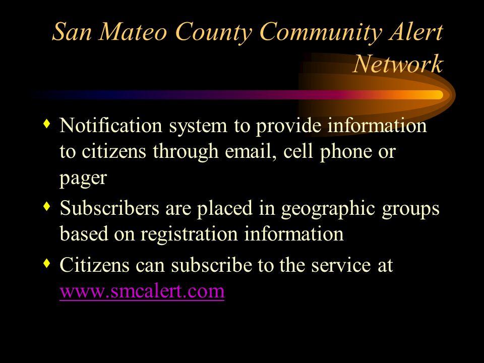 San Mateo County Community Alert Network