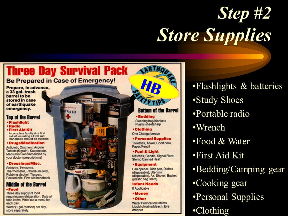 Step #2 Store Supplies HB Flashlights & batteries Study Shoes