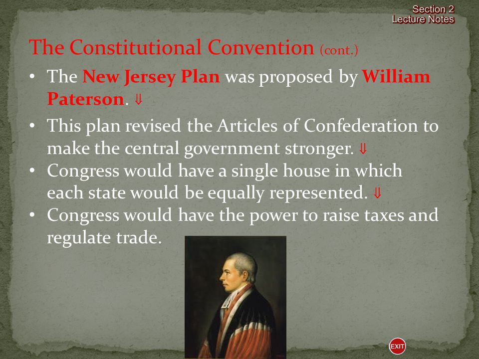 The Constitutional Convention (cont.)