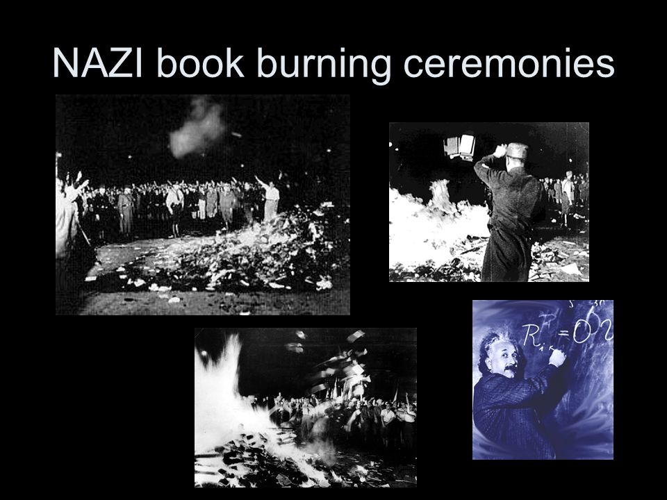 NAZI book burning ceremonies