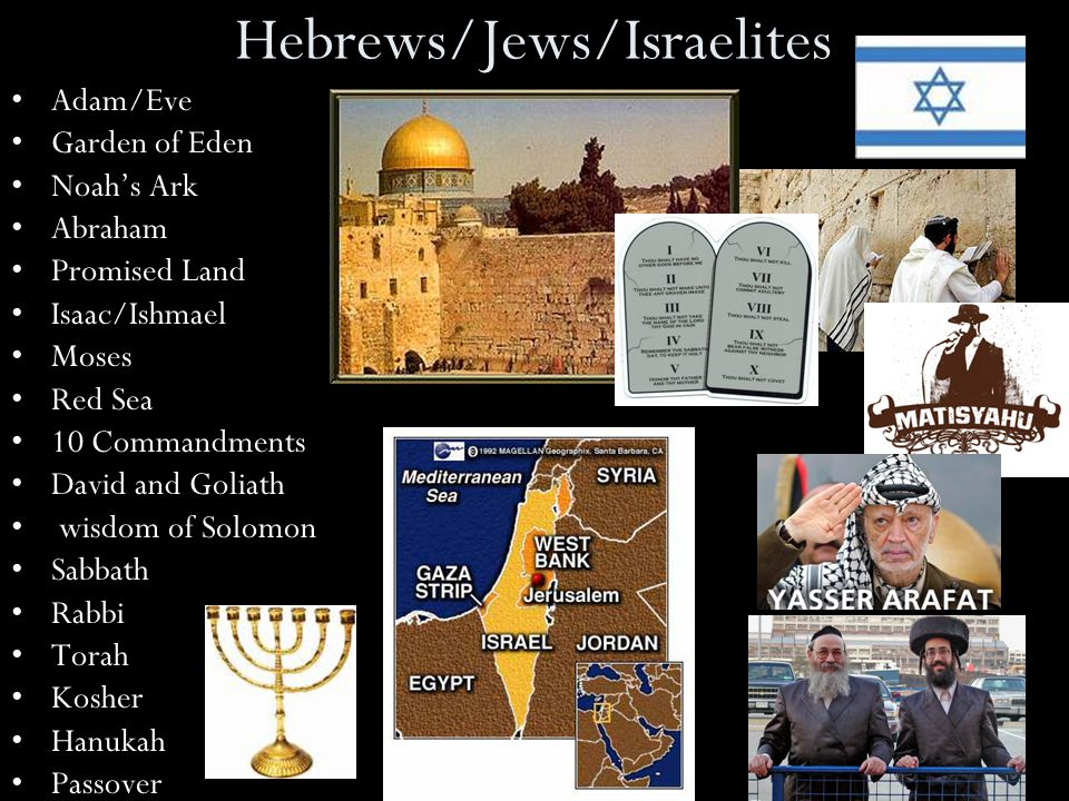 Hebrews/Jews/Israelites