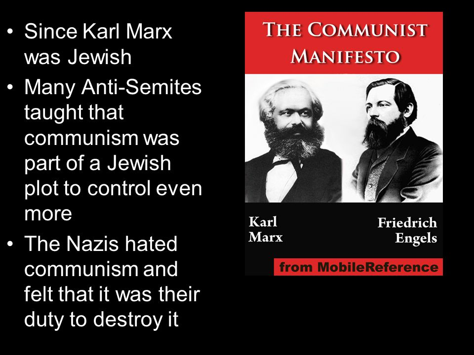 Since Karl Marx was Jewish