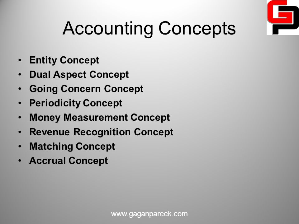 Accounting Concepts Entity Concept Dual Aspect Concept
