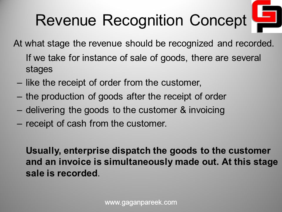 revenue recognition policy