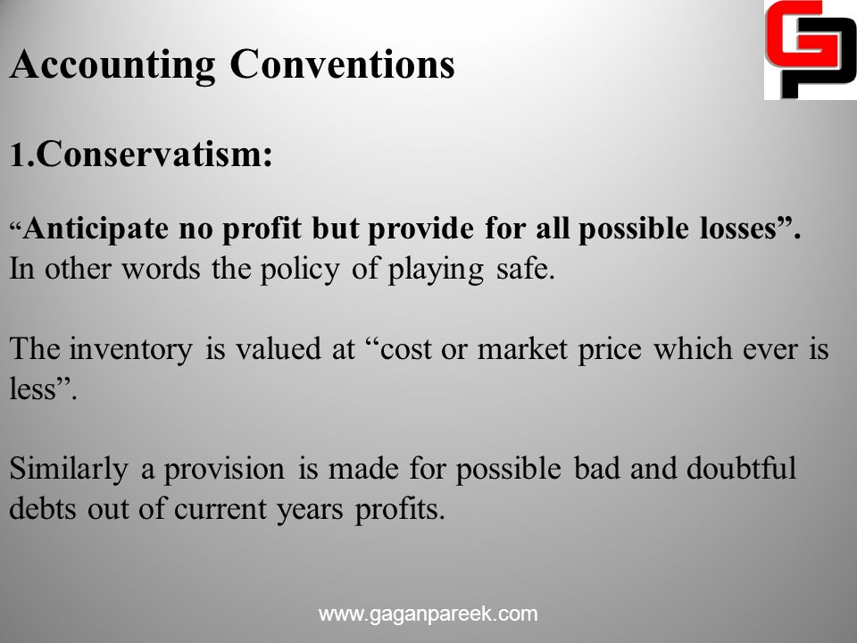 Accounting Conventions 1