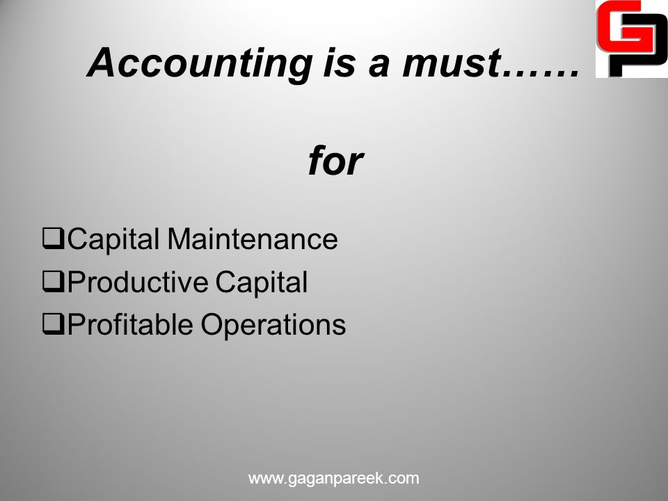 Accounting is a must…… for