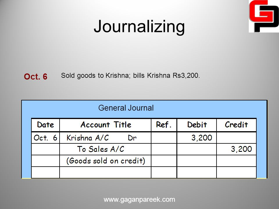 Journalizing Oct. 6 General Journal