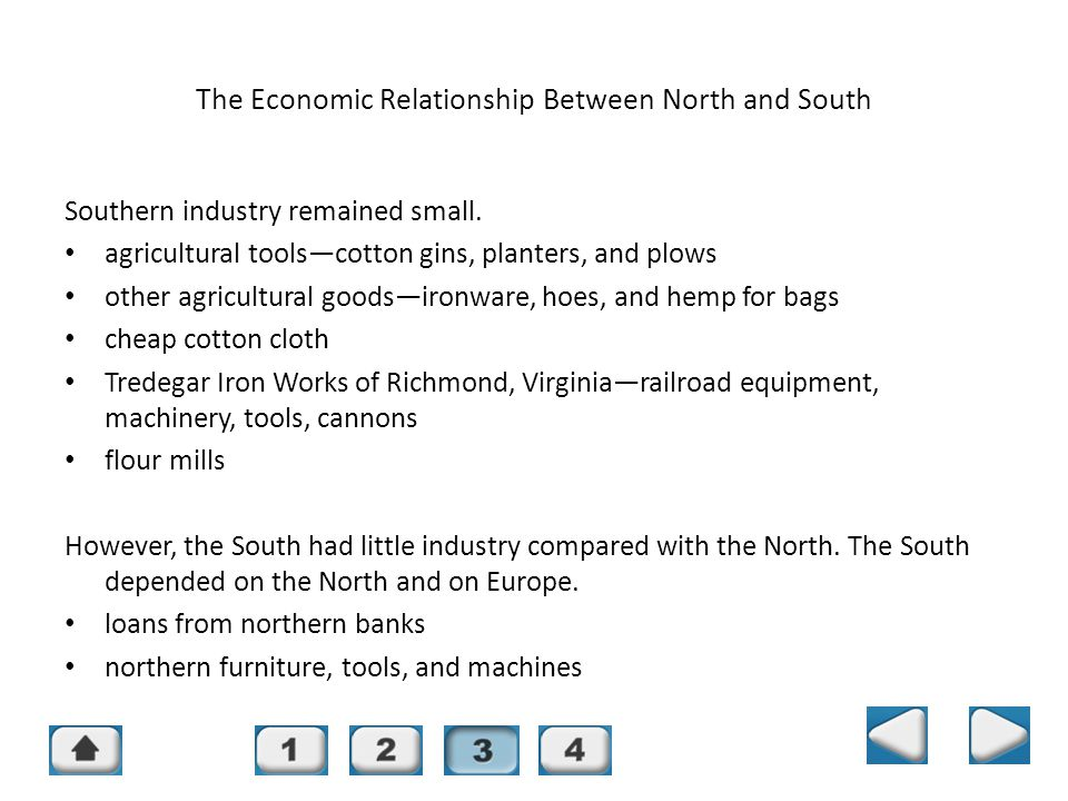 The Economic Relationship Between North and South