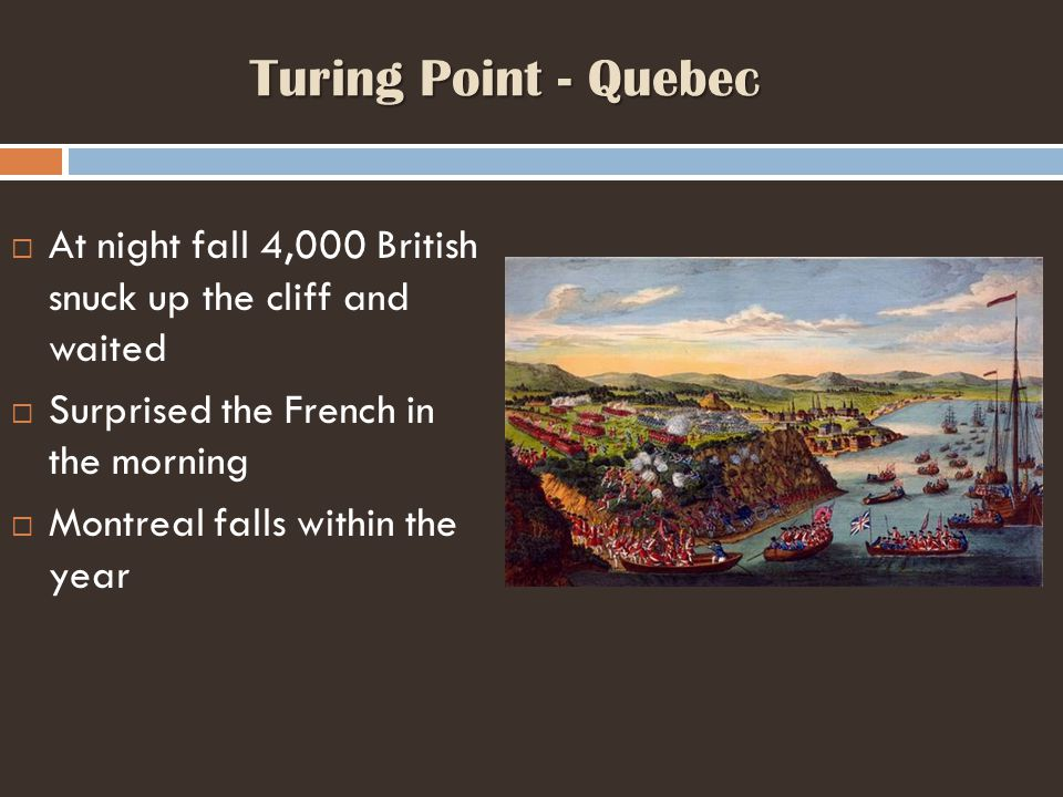 Turing Point - Quebec At night fall 4,000 British snuck up the cliff and waited. Surprised the French in the morning.