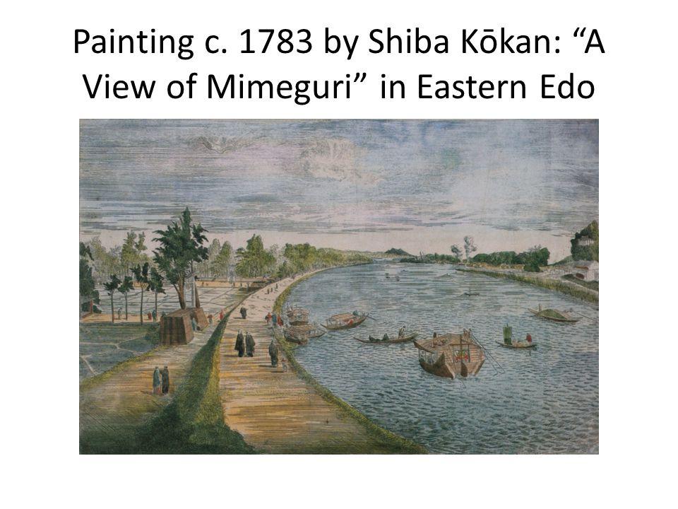 Painting c. 1783 by Shiba Kōkan: A View of Mimeguri in Eastern Edo