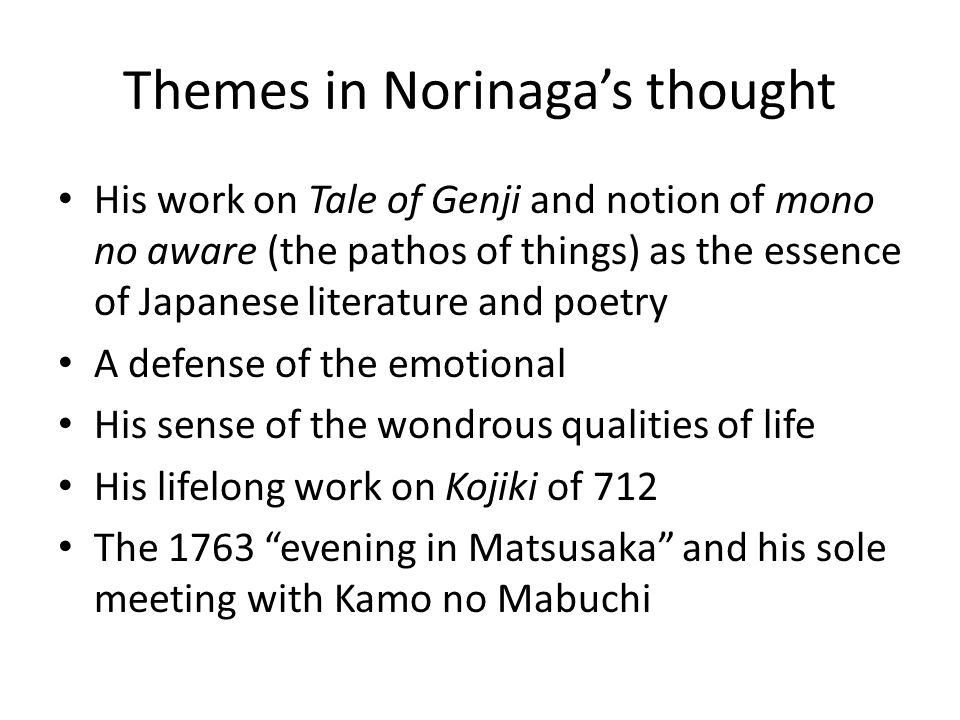 Themes in Norinaga's thought
