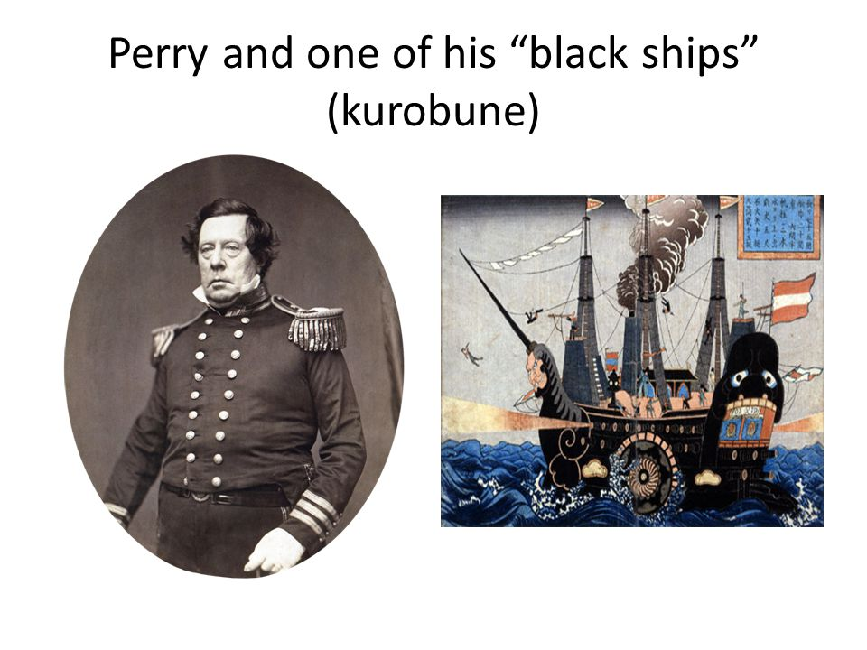 Perry and one of his black ships (kurobune)