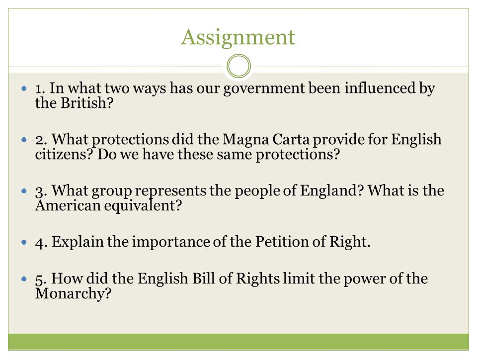 U.S. Government Was Influenced By English Traditions - Ppt Video