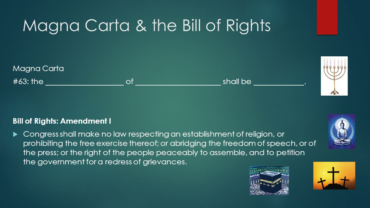 Magna Carta & the Bill of Rights
