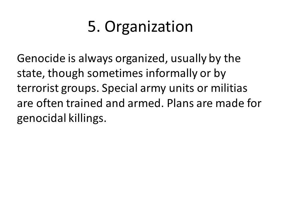 5. Organization