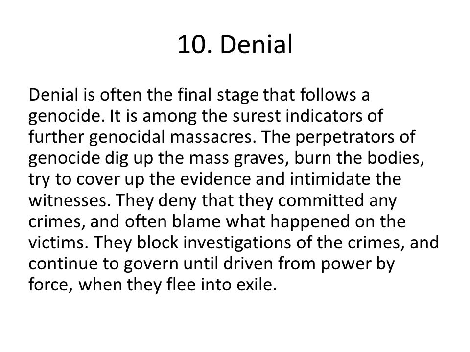 10. Denial