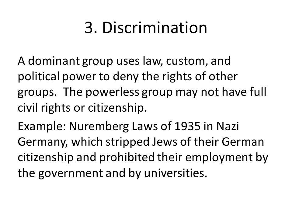 3. Discrimination