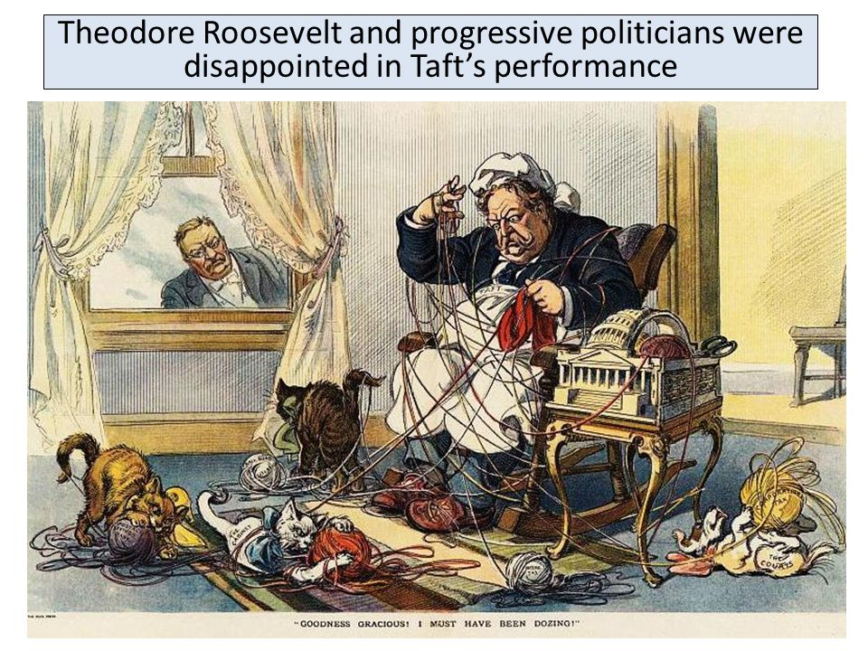 Theodore Roosevelt and progressive politicians were disappointed in Taft's performance