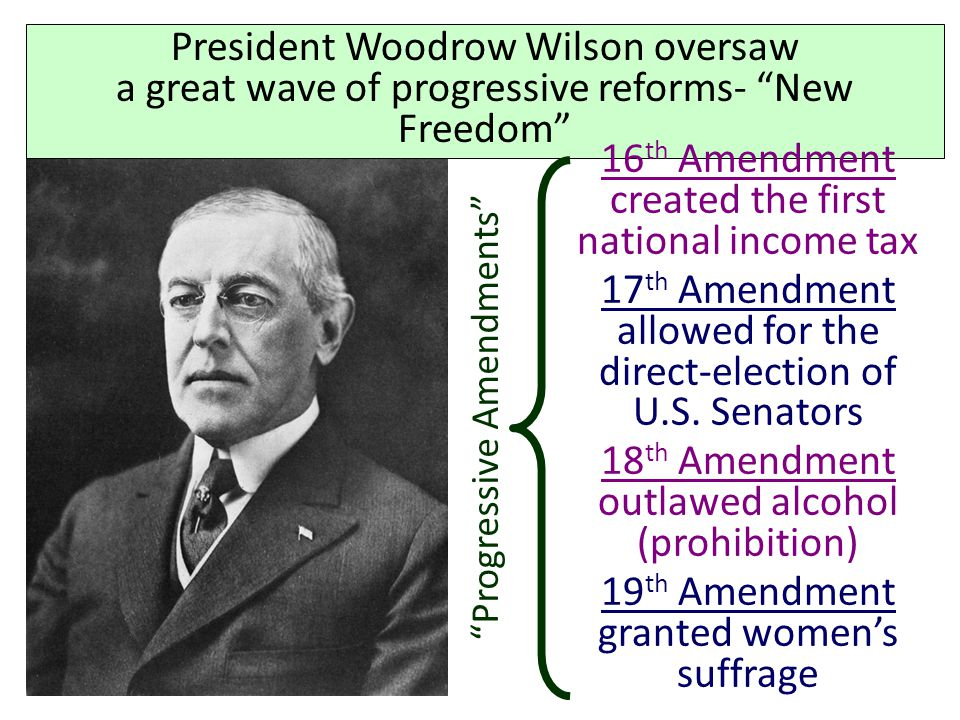 16th Amendment created the first national income tax