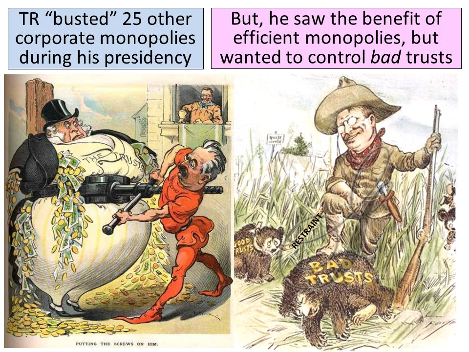 TR busted 25 other corporate monopolies during his presidency