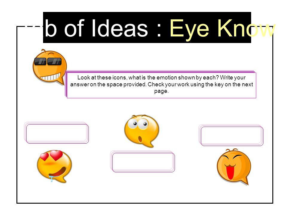 Tab of Ideas : Eye Know