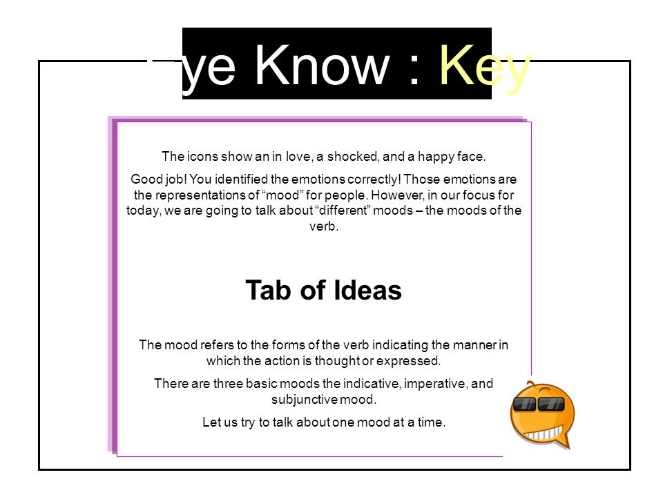 Eye Know : Key Tab of Ideas
