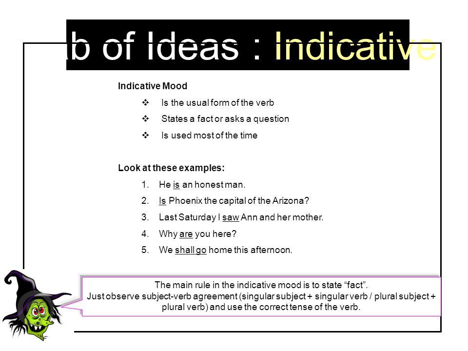 Tab of Ideas : Indicative