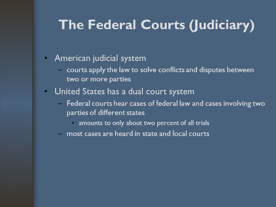 The Federal Courts (Judiciary)