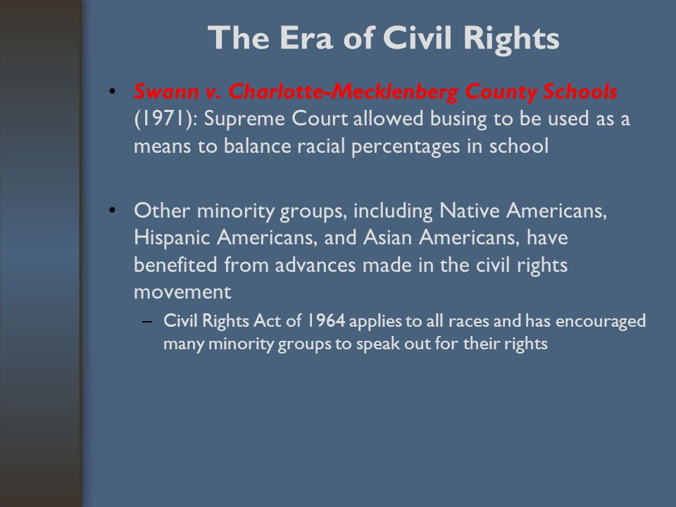 The Era of Civil Rights
