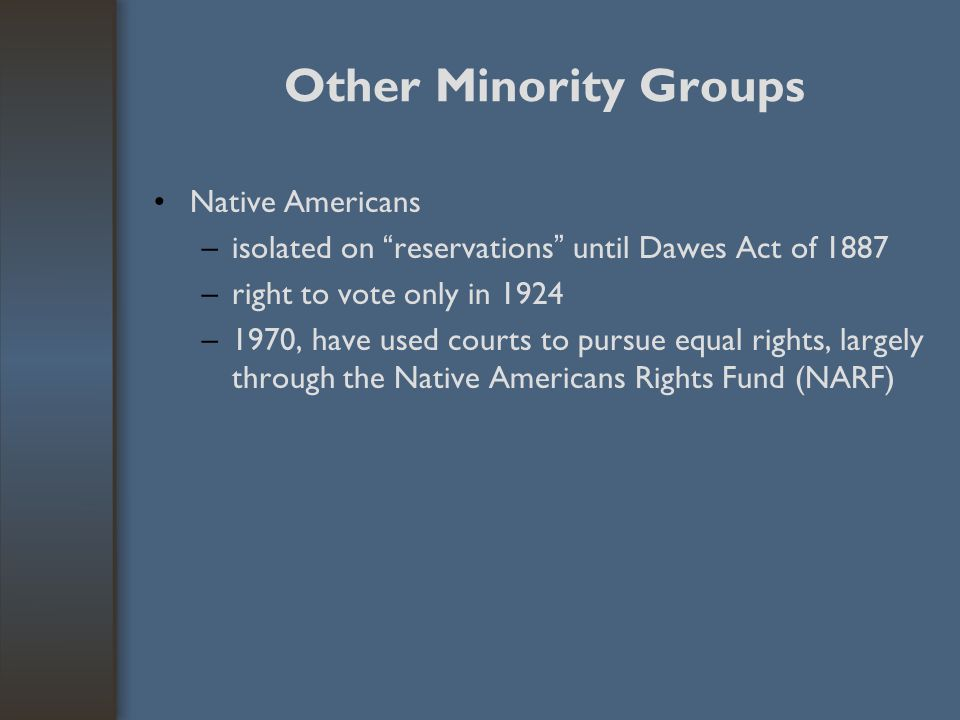 Other Minority Groups Native Americans