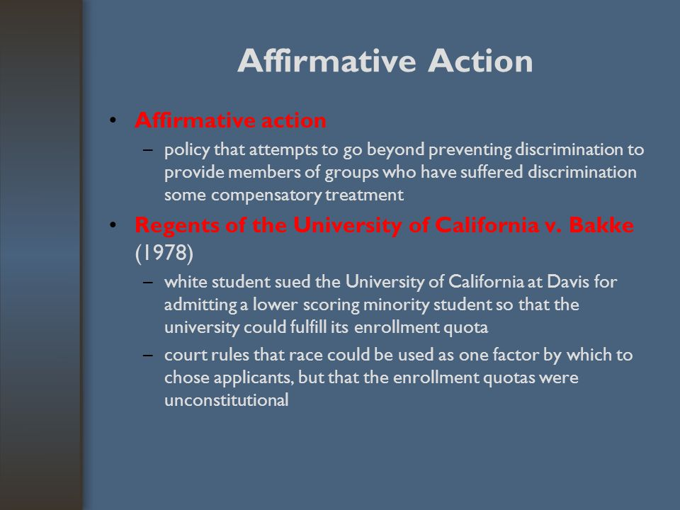 Affirmative Action Affirmative action