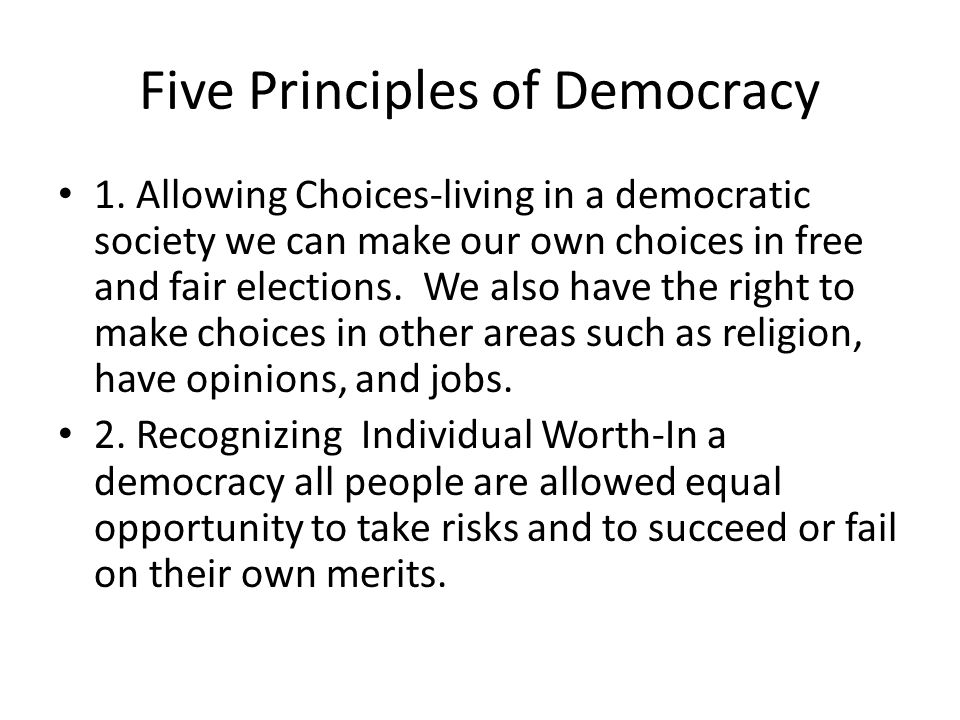 Five Principles of Democracy