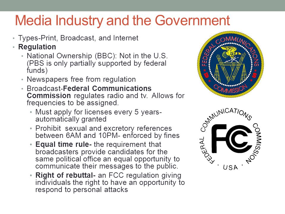 Media Industry and the Government