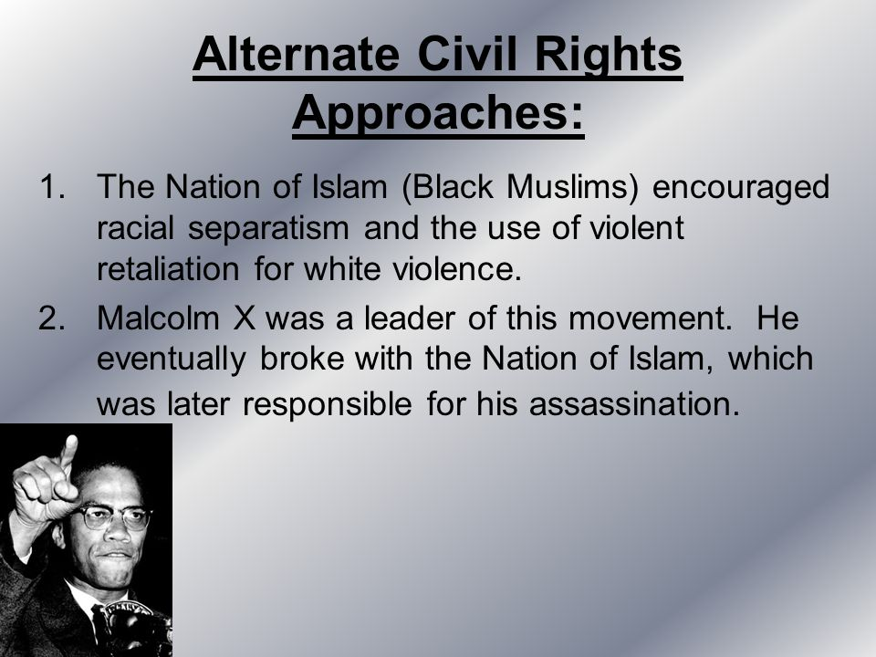 Alternate Civil Rights Approaches: