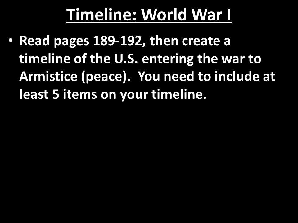 Timeline: World War I