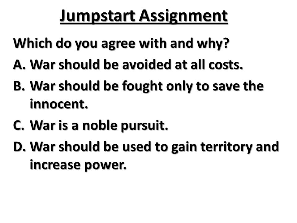Jumpstart Assignment Which do you agree with and why
